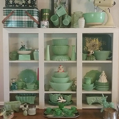 Jade Glassware Vintage Toledo