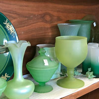 Green Glassware Collection