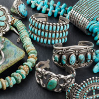 Vintage Collection of Turquoise and Silver Jewelry